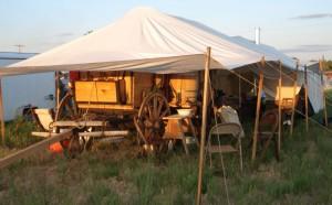 The Ingomar Wagon Train - Camp at the Miles City Fairgrounds