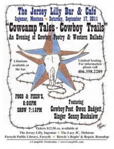 Cowcamp Tales and Cowboy Trails at the Jersey Lilly, September 17, 2011