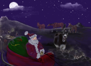 Twas the Night Before Christmas in Ingomar, Montana