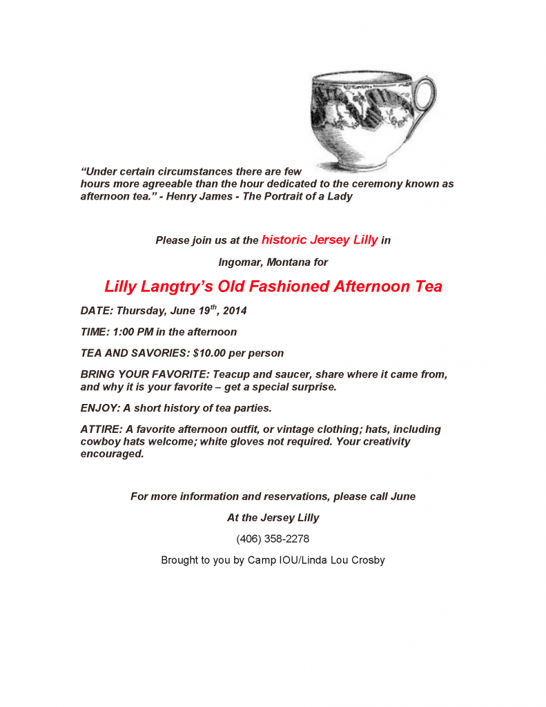 Tea at the Jersey Lilly June 19 2014