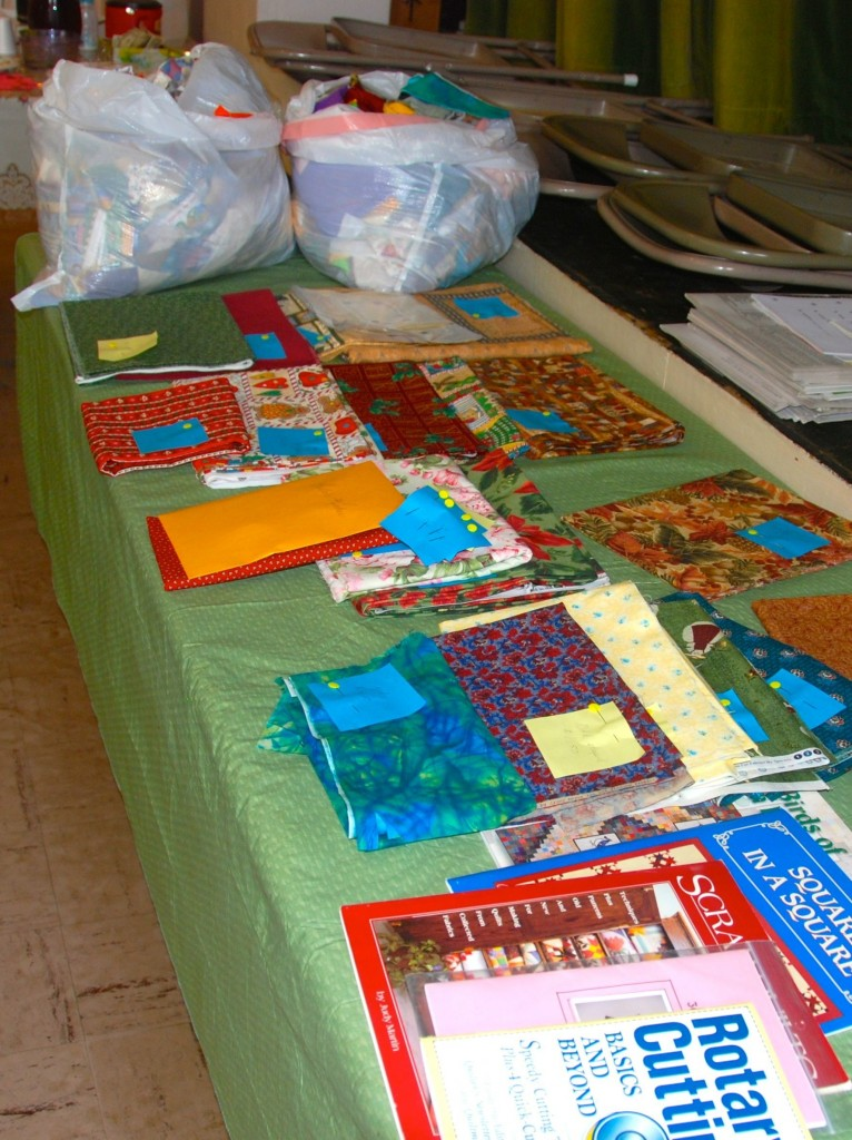 Quilt sample table