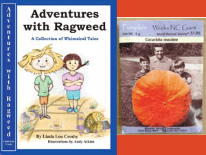 Book cover image of Adventures with Ragweed and Packet of Pumpkin Seeds