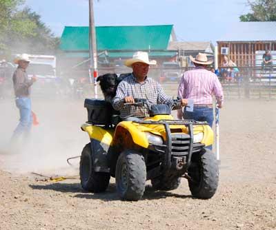 Donald John Cameron smoothing Ingomar Rodeo arena