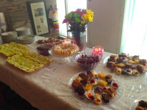 Tea table food by June Nygren