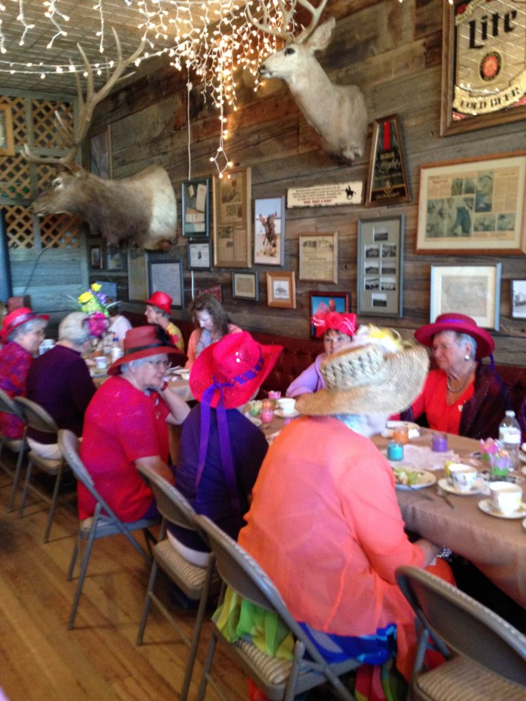 High-Hatters of Hysham, MT enjoying the 2016 Jersey Lilly Tea