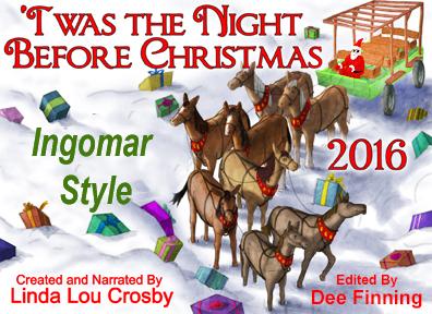 2016 christmas poem illustration, Twas the Night before Christmas, Ingomar Style
