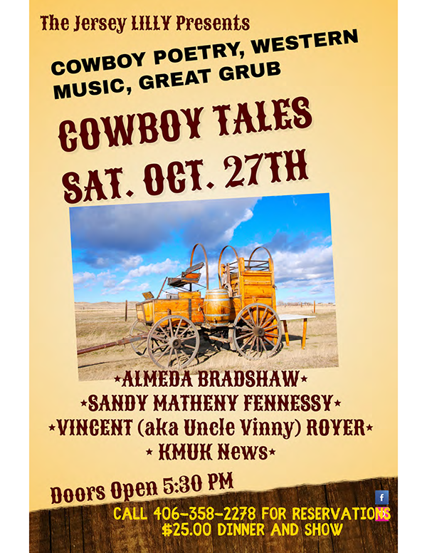 Cowboy Tales 2018 at the Jersey Lilly poster