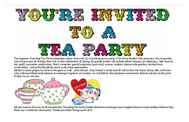 Ingomar MT Traveling Tea Party