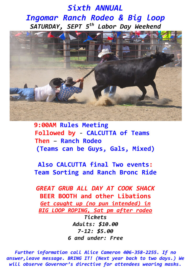 Sixth Annual Ingomar Ranch Rodeo Flyer