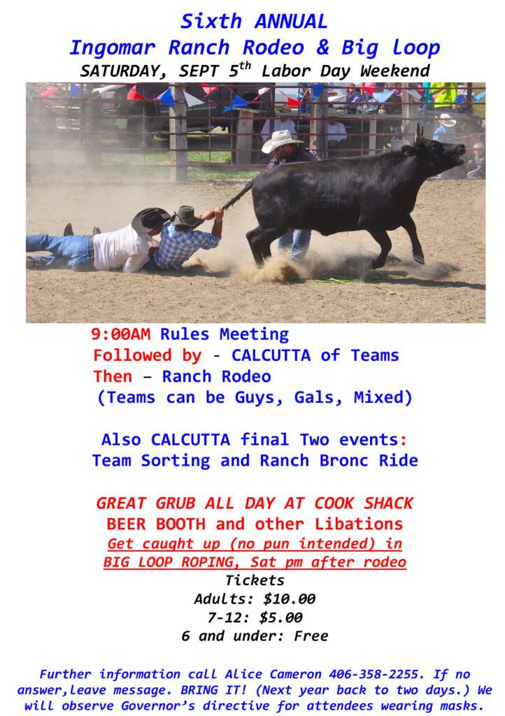 Sixth Annual Ingomar Ranch Rodeo Flyer